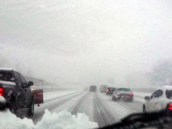 driving in snow | the both and | shorts and longs | julie rybarczyk