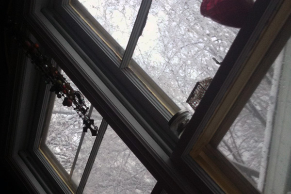 waking up to snow | the both and | shorts and longs | julie rybarczyk