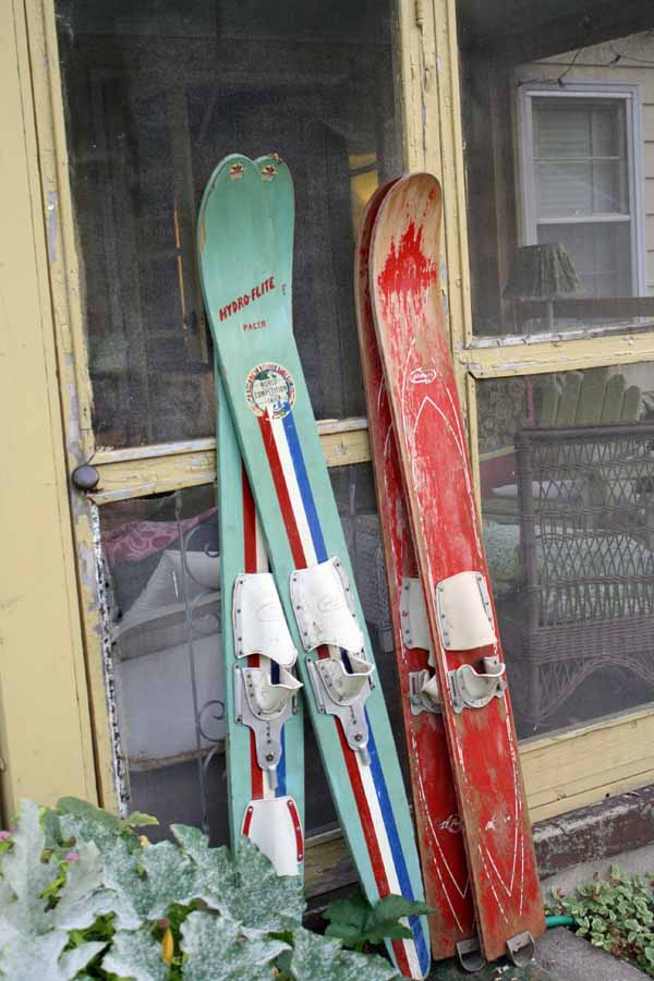 vintage water skis | the both and | shorts and longs | julie rybarczyk