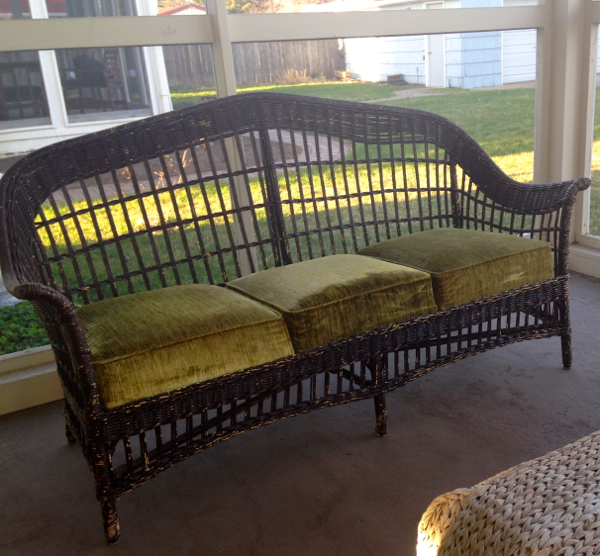 screen porch wicker couch - shorts and longs - julie rybarczyk1